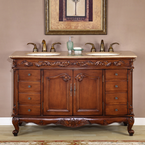 55 inch cambria vanity georgian chippendale legs bathroom sink furniture. Black Bedroom Furniture Sets. Home Design Ideas