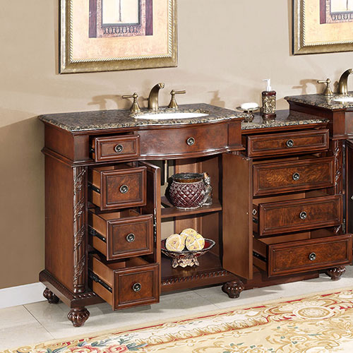 90 Inch Double Sink Bathroom Vanity: Extra Large Sink Chest