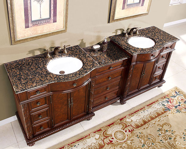 90 inch marley vanity extra large sink chest 90 inch for Bathroom cabinets 90