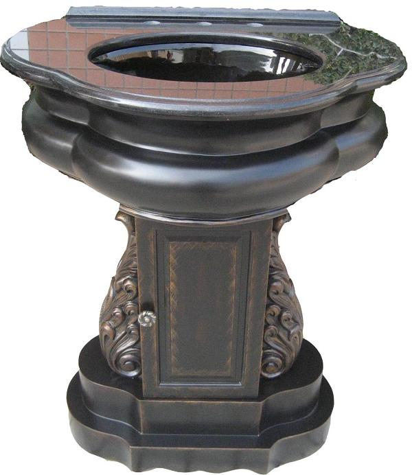 Wide Base Pedestal Sink : 12 Inch to 29 Inch Wide Vanities Single Sink Cabinet Limited space ...
