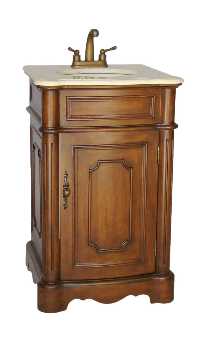 21 inch vira vanity space saving vanity powder room sink for Powder room vanities for small spaces