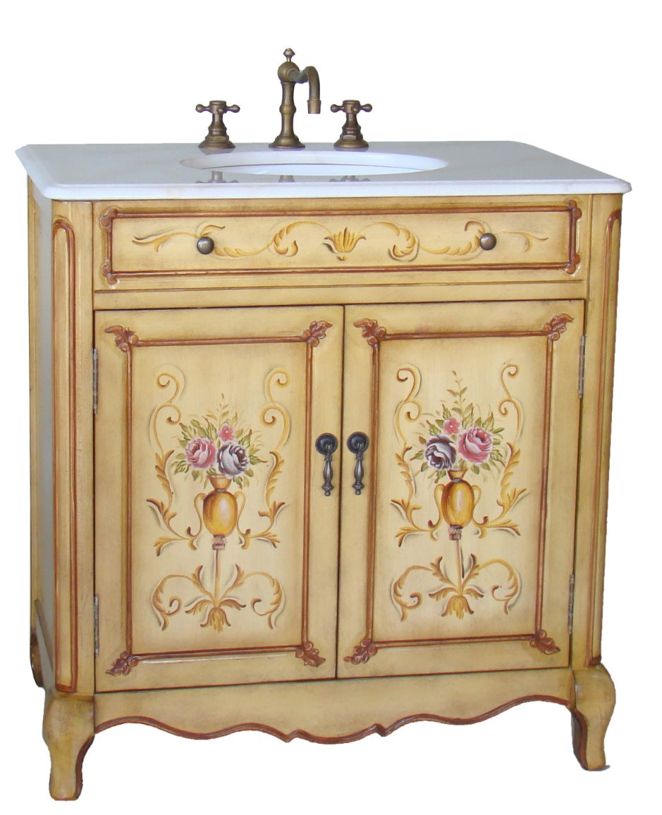 33Inch Camay Vanity | Hand Painted Cabinet | Decorative ...