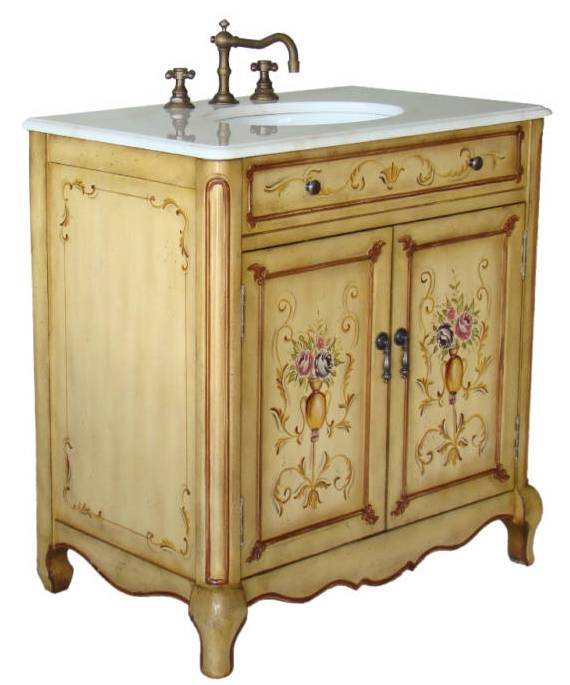33inch Camay Vanity Hand Painted Cabinet Decorative