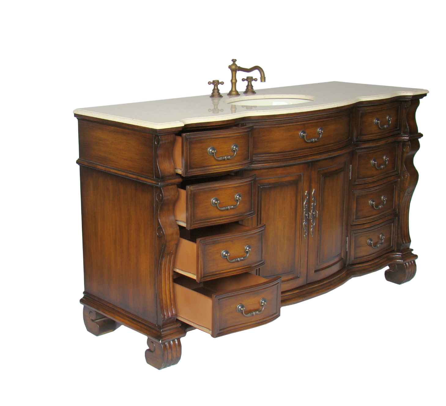 Perfect Bathroom Vanity Single Sink 60 Inch Wc 1515 60 Sgl W 1 IzyuwO