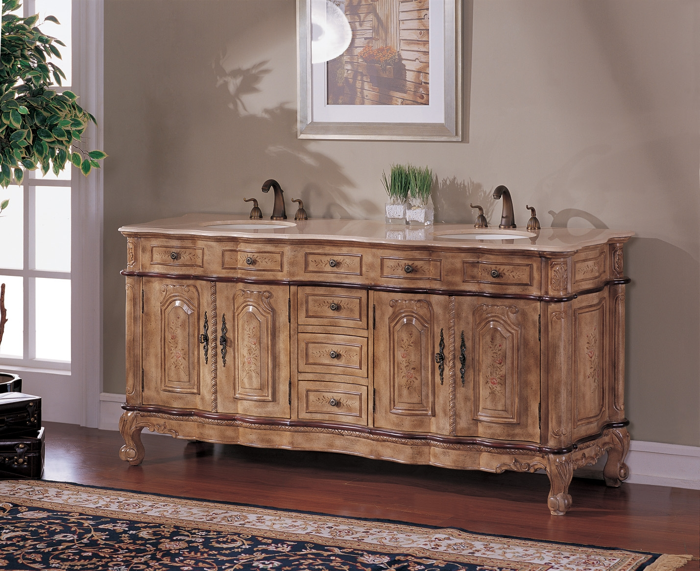 74 Inch Brittany Vanity 74 Double Sink Chest 74 Hand