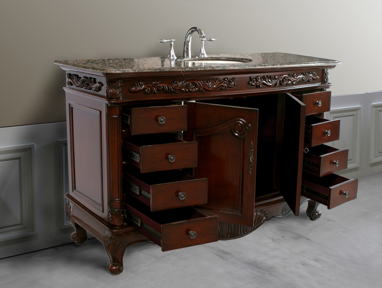 61 Inch Howell Vanity 61inch Single Vanity Single Sink Chest