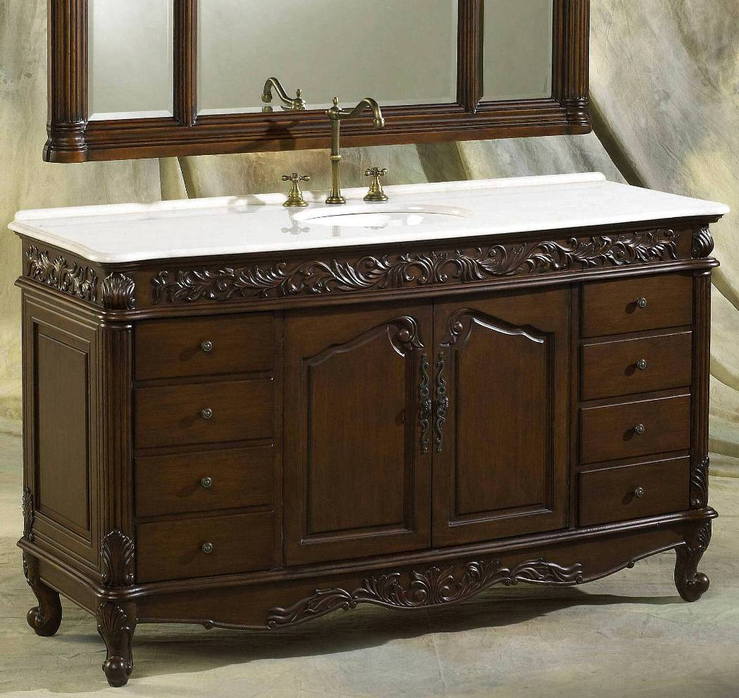 60 69 inch vanities double bathroom vanities double - 66 inch bathroom vanity single sink ...