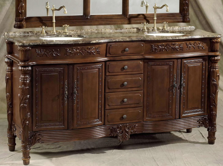 73 Inch Christy Vanity Double Bathroom Vanity Cabinets