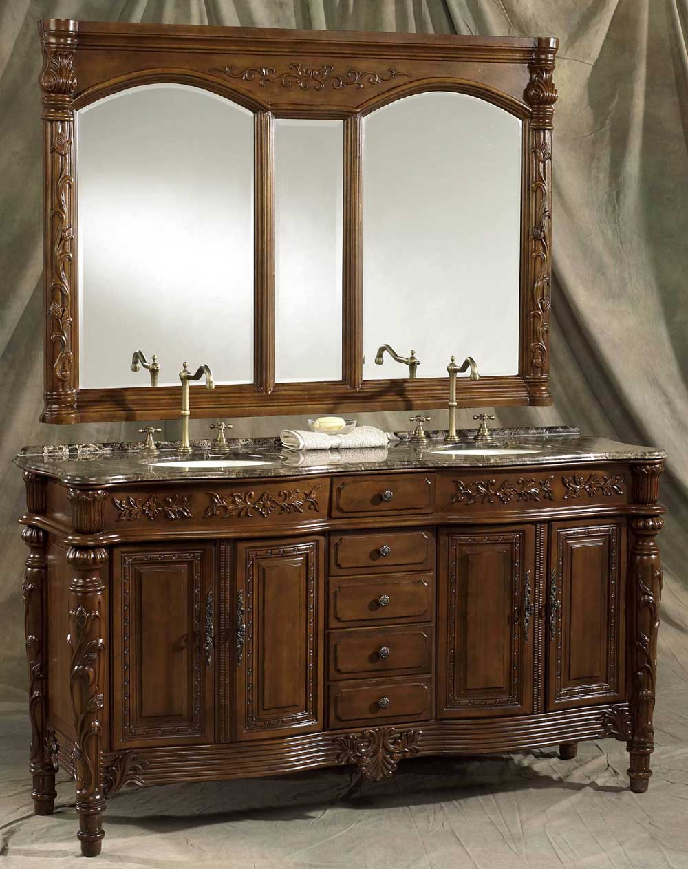 Double Bathroom Vanity Cabinets
