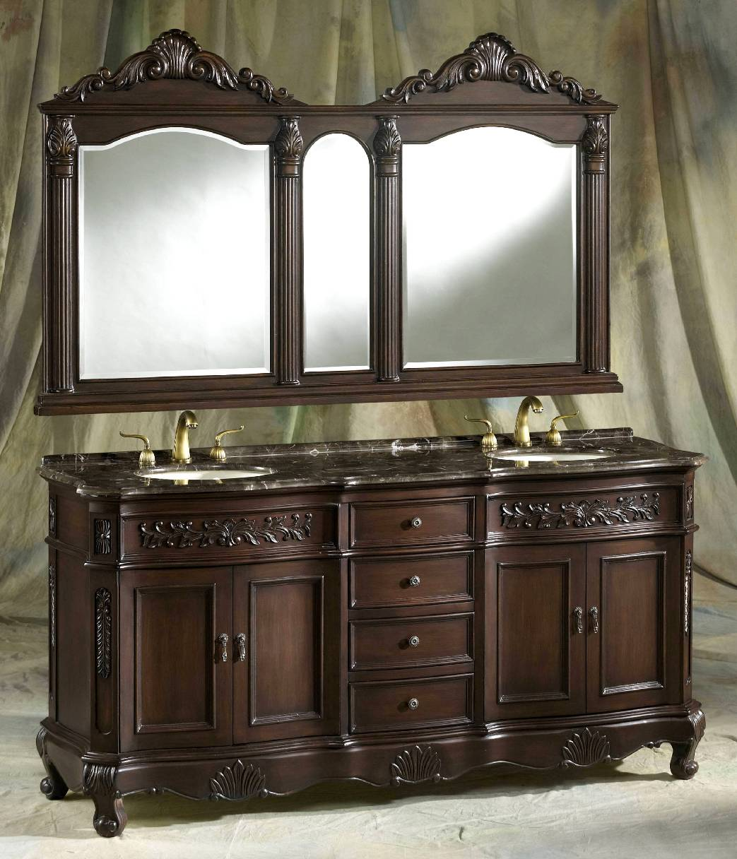 72 Pressley Vanity 72 Inch Double Vanity Dark Sink Vanity
