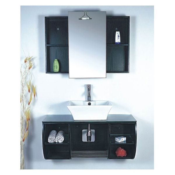 38 Inch Eclipse Vanity Black Sink Vanity Contemporary