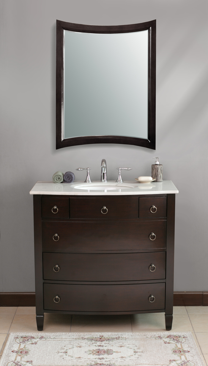36 fina vanity transitional style vanity espresso for Bathroom cabinets 20 inches deep