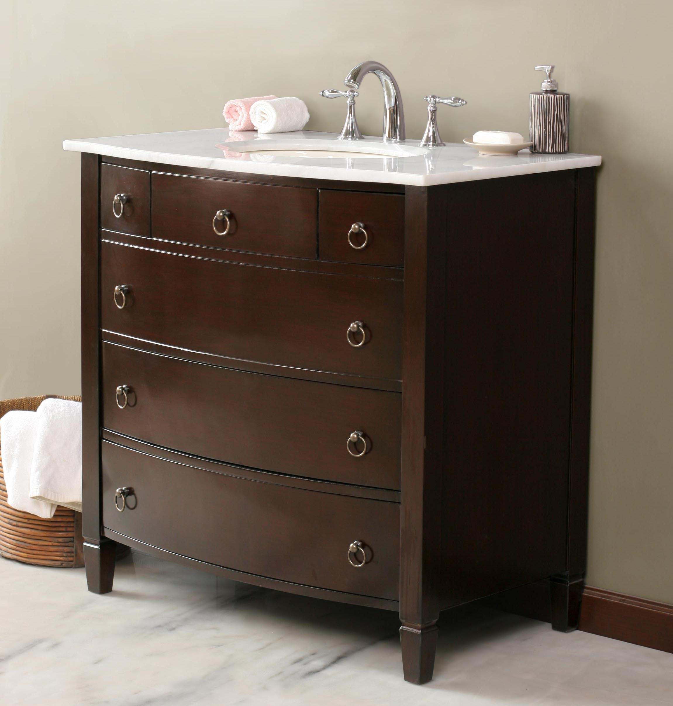 27 Inch Bathroom Vanities: Transitional Style Vanity