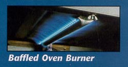 Baffled Oven Burner